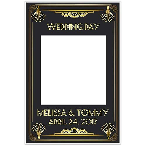 The Great Gatsby Art Deco Wedding Selfie Frame Social Media Photo Frame DIY Wedding Booth Prop Poster ()