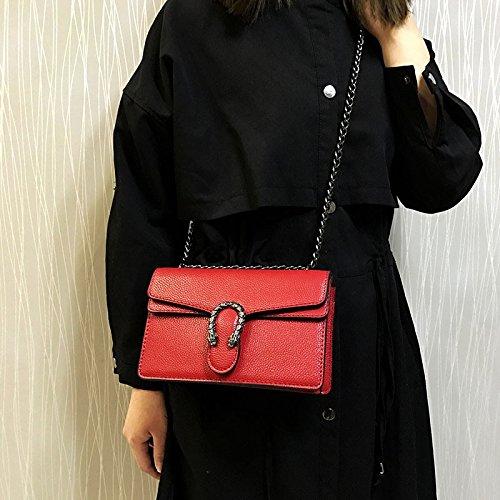 Chaîne Rouge Sac Femme Carré Sac 27 OME 10cm Unique Épaule amp;QIUMEI Sac Croix Petit Oblique 16 1q71EYxf