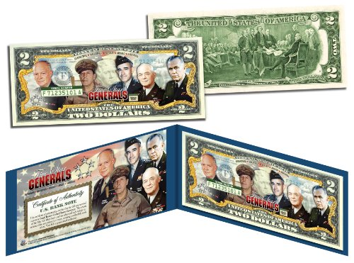 5-STAR GENERALS *WWII Legendary Rank Acheived By Only 5* Legal Tender US (5 Legal Tender Note)