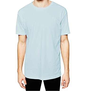 d18670d3 Mens Plain Longline Tshirt Top Long Length 100% Cotton Base Layer Short  Sleeve: Amazon.co.uk: Clothing