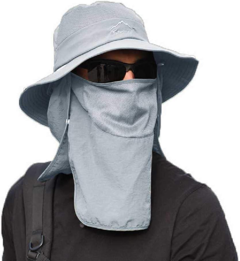 Kaiross Angelhut Sonnenkappe Outdoor Sport Wandern Visier Atmungsaktiver Hut UV-Schutz Gesicht Halsabdeckung Outdoor Sonnenh/üte F/ür M/änner Frauen Armeegr/ün