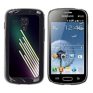 TopCaseStore / la caja del caucho duro de la cubierta de protección de la piel - Neon Light Bright Dark - Samsung Galaxy S Duos S7562