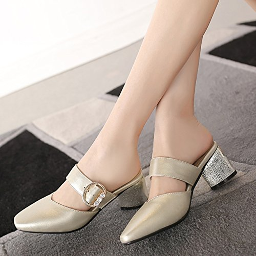 JYshoes JYshoes Or Femme Or Femme Mules Mules JYshoes qwIUxEIf