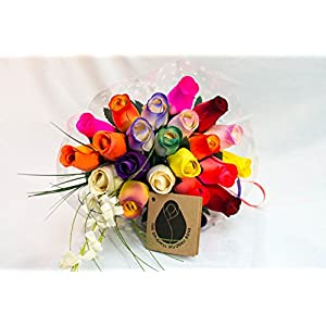 The Original Wooden Rose Bouquets in 1, 2, or 3 Dozen 5
