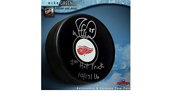 fb796ac3bbb Autographed Mike Green (Washington Capitals) Puck - Inscribed 1st Hat Trick  10 17 16 - Autographed NHL Pucks at Amazon s Sports Collectibles Store
