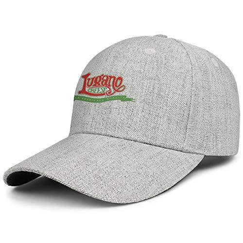- Unisex Baseball Cap Lugano Cheese Logo Stylish Fitted Sun Adjustable Fits Baseball Caps