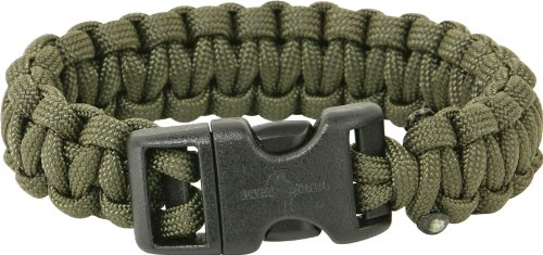 UPC 000000156837, Para Cord Brands SBODM Survival Bracelet Olive Drab Size Medium with Hand Tied Military Para-Cord Construction