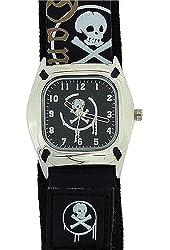 Reflex Skull and Crossbones Black Dial Fashion Quartz Watch KID-0037