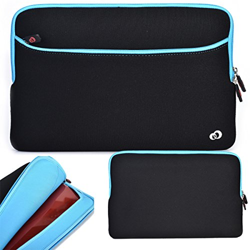 External Compartment Pocket Color (HP ProBook 15.6 Inch Notebook Laptop Neoprene Sleeve Case with External Compartment Pocket Fits Models 4510s, 4520s, 4525s, 4530s, 4535s Color Black /Blue (ND15G2B1))