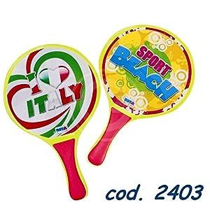 RST- Super Toys 2403 racchettoni Legno Non forati, Multicolore 1 spesavip