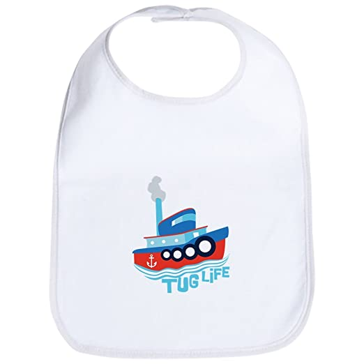 316a09f1a24 Amazon.com  CafePress - Tug Life Tugboat Bib - Cute Cloth Baby Bib ...