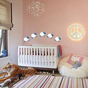 Sheep Wall Decal Baby Room Wall Sticker Nursery Wall Decor Play - Nursery wall decals uk