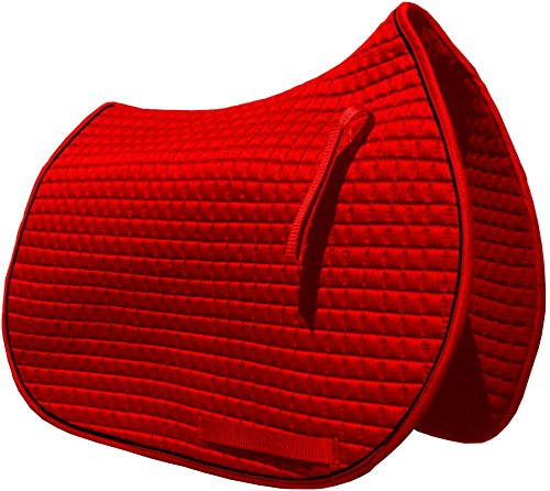 PRI Pacific Rim International All-Purpose English Saddle Pads (Red w/Black ()