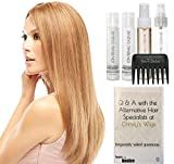 Jon Renau BLAKE Human Hair Wig, 15 Page Christy's Wigs Q & A Booklet, Luxury Shampoo & Conditioner, Heat Treat Thermal Spray, Smooth Treatment Mist, & Wide Tooth Comb - Color Selected: 1B