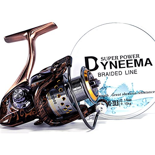 Liufanny Bait Casting Smooth Light Weight Spinning Reel, Fishing Reels (2000)