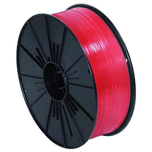 Ship Now Supply SNPLTS532R Plastic Twist Tie Spool, 5/32'' x 7000', 0.156'' width, Red by Ship Now Supply
