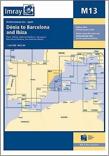 Imray Chart M13: Denia to Barcelona and Ibiza: Amazon.es ...
