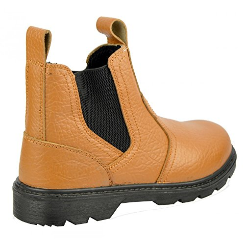 Cap Pull Mens Toe Boots Truka Tan Builder Footwear Kick On Steel 1xgwXqnU