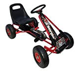 Vroom Rider Angry Birds Red Racing Pedal Go-Kart w/ Pneumatic Tire - Black