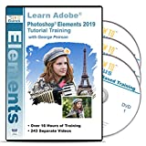 Adobe Photoshop Elements 2019 PC Training on Disc 3 DVDs Over 19 Hours in 241 Video Tutorial How To Software including Easy to Follow Lessons Tips Tricks