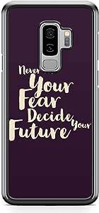 Samsung Galaxy S9 Plus Transparent Edge Phone Case Motivation Phone Case Fear Future Phone Case Love Samsung S9 Plus Cover with see through edges