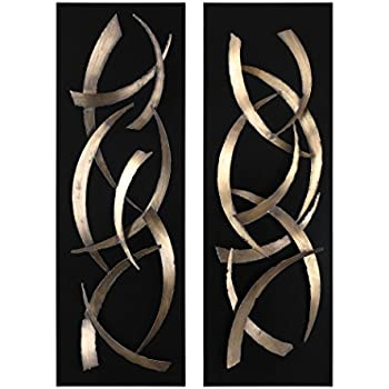 Amazon.com: Uttermost Metal Tulips Wall Sculpture, Set of