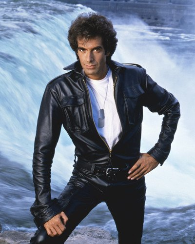 The Magic of David Copperfield in black leather jacket 16x20 Poster