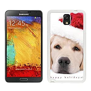 2014 Latest Christmas White Dog With Red Hat White Silicone Case For Samsung Galaxy Note 3,Samsung N9005 Phon