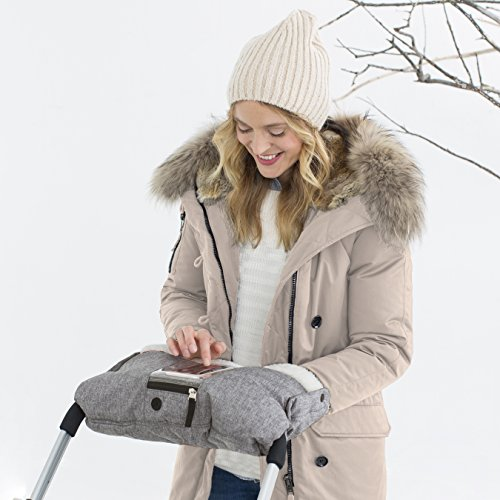Skip Hop Stroll-and-Go Three-Season Hand Muff, One Size, Heather Grey by Skip Hop (Image #1)