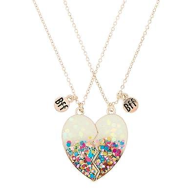 comment trouver nouveaux produits pour acheter authentique Claire's - Femmes Lot de 2 colliers best friends blancs à ...
