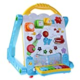 Baby Three-in-one Activity Walker Baby Music Walker Trolley Multi-Function Early Education Puzzle Walker Children's Toys Anti-Rollover 0-1 Years Old (Color : Blue, Size : 303146cm)