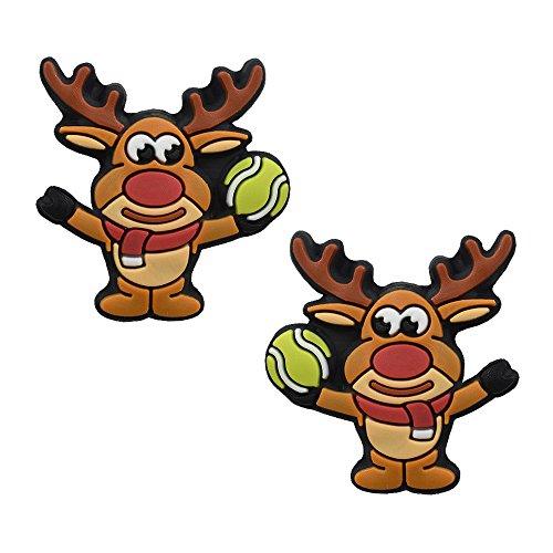 Racket Expressions Rudolph Reindeer Holiday Tennis Dampeners