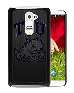 NCAA TCU Horned Frogs 4 Black Customize LG G2 Phone Cover Case