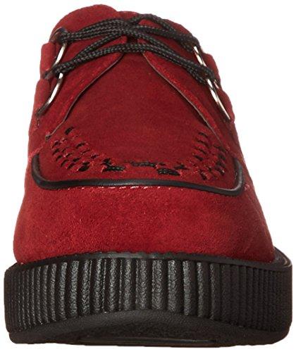 T.U.K. Viva Lo, Damen Sneakers Rot (bordeaux/black Interlace)