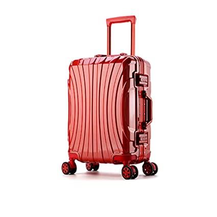 Color : Rose red, Size : L Large Capacity 26 inch 28 inch ABS Trolley case Luggage Universal Wheel Password Suitcase Men and Women
