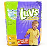 Health & Personal Care : Luvs Ultra Leakguards Diapers Size 5 - 18 Count