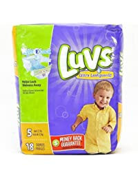 Luvs Ultra Leakguards Diapers Size 5 - 18 Count BOBEBE Online Baby Store From New York to Miami and Los Angeles