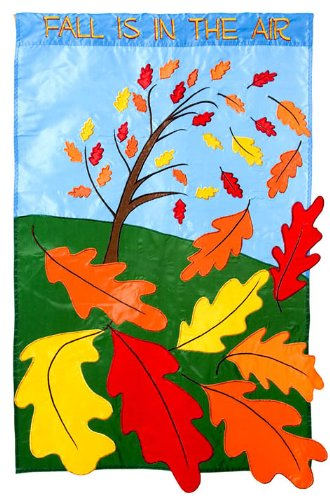 Flag, Gar, Fall is in the Air (Mini Appliqued Garden Flag)