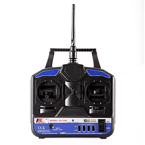 Radio Transmitter - FLYSKY FS-T4B Radio Transmitter & Receiver 2.4G 4CH for Helicopter Plane
