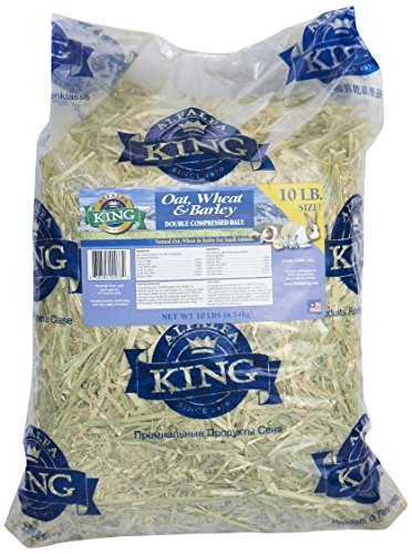 Alfalfa King Double Compressed Oat Wheat And Barley Hay Pet Food, 12 By 18 By 8-Inch