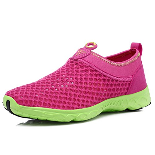 Turnschuhe Herren Rot Mesh vorgelagerten Aqua Atmungsaktiv Schuhe Frauen Wasser Schuhe Air Woman Rose Sommer Strand Qianliuk Sport Schuhe Wasser 6FwfZqn