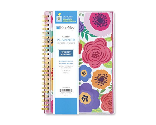 Blue Sky 2018-2019 Academic Year Weekly & Monthly Planner, Flexible Cover, Twin-Wire Binding, 5