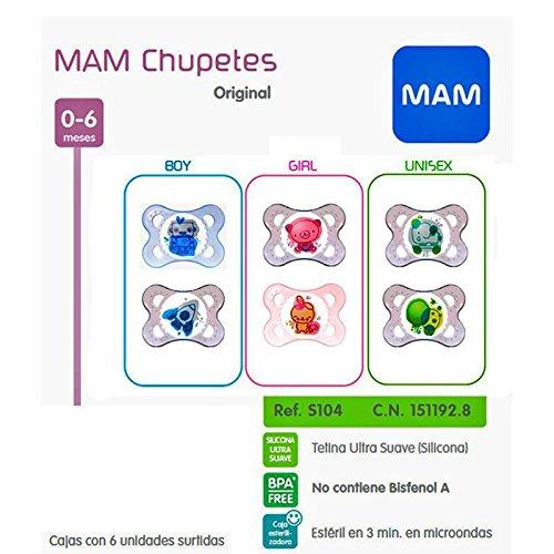 MAM - MAM CHUP ORIGI SILICONA0-6M 2U