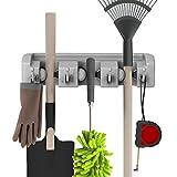 Stalwart 75-ST6060 Shovel, Rake and Tool Holder with Hooks- Wall Mounted Organizer