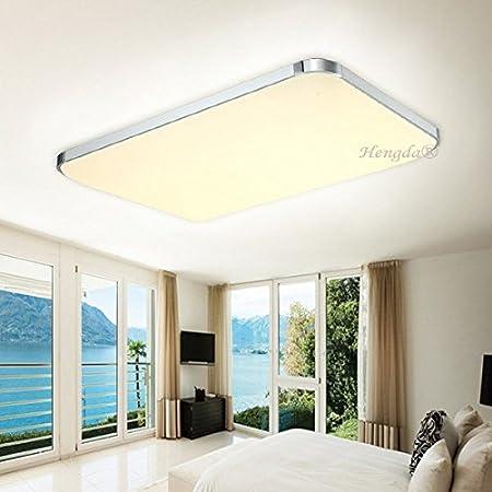 72W LED Deckenleuchte Eckig Beleuchtung Deckenlampe Wohnzimmer Flur IP44 Weiß
