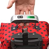 Generic 50g/50Kg Capacity 0.1lb/110lb Portable Electronic Digital Luggage Handheld Hanging Weight Scale +Hook Strap Full Tare Function For Travel Outdoor Home visible to accurately display weight