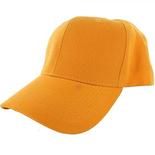 Gold-100% Acrylic Plain Baseball Cap Baseball Golf Fishing Cap Hat Men Women Adjustable Velcro (US - Gap Belted Belt