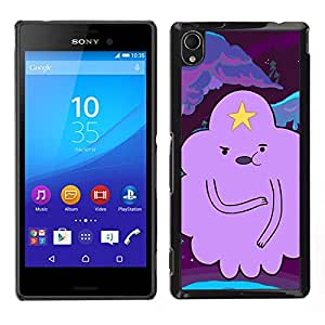 Carácter Nube Estrella Historieta púrpura- Metal de aluminio y de plástico duro Caja del teléfono - Negro - Sony Xperia M4 Aqua
