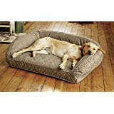 Orvis Comfortfill Bolster Dog Bed / Only Small Dogs Up To 40 Lbs.