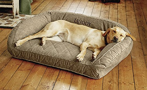 Orvis Memory Foam Bolster Dog Bed / X-large Dogs Up To 90-120 Lbs. Multiple Dogs., Brown Tweed, by Orvis
